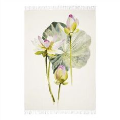 Nymphaea Camellia Throw   Designers Guild