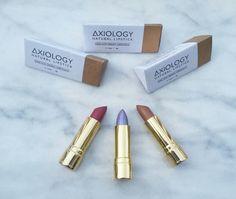 Have you tried Axiology's #organic, #vegan, & #crueltyfree lipsticks yet?