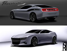 """Dodge """"Barracuda"""" concept design; as seen on Allpar.com. I'm not entirely happy with the front view, but The rear view is what I will expect of this new vehicle rumored to replace the Challenger."""