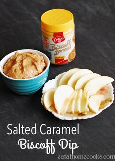 Salted Caramel Biscoff Dip 8 oz. cream cheese, softened 3/4 – 1 cup packed brown sugar 1/2 cup Biscoff Spread, creamy or crunchy 1/2 tsp. Kosher salt, optional Beat cream cheese and brown sugar with an electric mixer until smooth and well combined. Mix in Biscoff Spread and salt, if desired. Refrigerate until ready to serve.