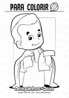 São Miguel Febres desenho para colorir