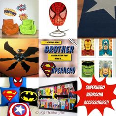 Batman fan is AWESOME!!  Love that spiderman lamp too....need those cushions... Superhero room!