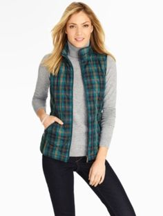 Talbots - Quilted Plaid Vest | New Arrivals |