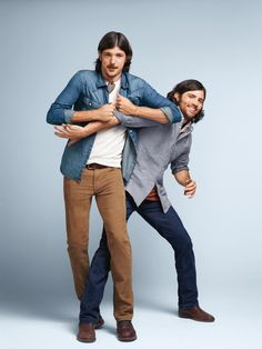 The Avett Brothers, musicians, shine in The 1969 Straight Fit Cord.
