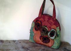 autumn bag  unique bag  bag  handmade bag  von agnieszkamalik, zł100.00