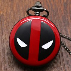 Fashion Deadpool Cosplay Anime Cartoon Pocket Watches with chain necklace pendant for Kids Boys and Girls Quartz Pocket Watch, Silver Pocket Watch, Pocket Watch Antique, Quartz Watch, Skeleton Pocket Watch, Steampunk Pocket Watch, Mechanical Pocket Watch, Deadpool Gifts, Wedding Gifts For Men