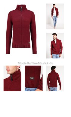 8719301035094 | #Petrol #Industries #Strickjacke #ligth #burgundy #für #Herren
