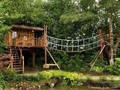 baumhaus garten bauen stelzen treppe plattform | garten ideen, Garten und erstellen