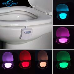 Smart Bathroom Toilet Nightlight LED Body Motion Activated On/Off Seat Sensor Lamp 8 Color Toilet lamp hot