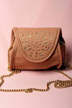 JEFFREY CAMPBELL SOHO NUDE LEATHER BAG - $124 by Jeffrey Campbell   Cross body nude bag.  Step into comfort and fashion this season with Jeffrey Campbell's new accessory line.  Made with premium leather. These pretty babies will keep you coming back for more.   #Handbags/Purse