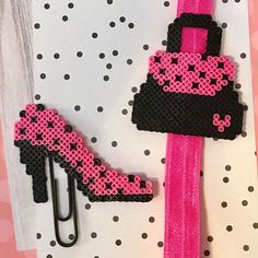 How fun and girly is this purse and high heel duo? Head on over to Happy Hearts Paper Co. for more fun handmade planner accessories, planner ideas, and more! HappyHeartsPaperCo.etsy.com #plannerideas #happyplanner #plannerbands #plannerclips #plannersupplies #plannergoodies #bookmarks #happyheartspaperco