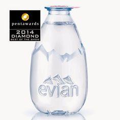 Diamond Pentawards 2014, categoría el mejor packaging del año Marca: Evian, diseño: Grand Angle Design, Frédéric Brasse, Francia