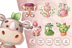 Promotional Banners, Fabric Gifts, Kids Gifts, Digital Pattern, School Design, Cute Stickers, As You Like, Design Bundles, Baby Animals