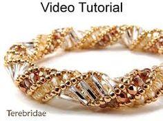 Resultado de imagen para brazalete espiral ruso con perlas