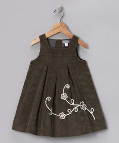 Take a look at this Gray Corduroy Alma Dress - Toddler & Girls by Alouette on #zulily today!