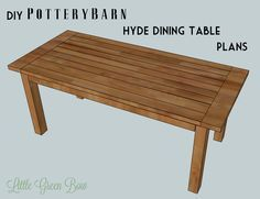 How to make a Pottery Barn knock off dining table for a fraction of the price | Little Green Bow