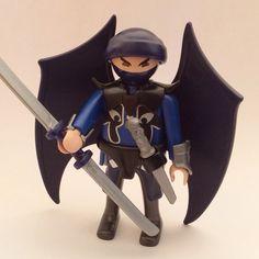 Playmobil Samouraï ninja bleu ailé S9