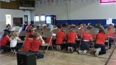 Children praying during the International Day of Prayer for the Persecuted Church