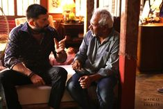 Here are the stills of Mani Ratnam with Simbu and Arun Vijay during the shooting of Chekka Chivantha Vaanam. Arun Vijay, Mani Ratnam, Actor Photo, Behind The Scenes, Actors, Fictional Characters, Fantasy Characters, Actor
