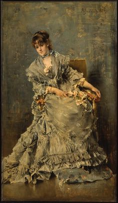 The Attentive Listener, 1879, Oil on panel // by Alfred Stevens, Museum of Fine Arts, Boston