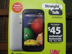 BRAND NEW IN BOX STRAIGHT TALK MOTO E SMARTPHONE w/ BONUS FREE SHIPPING!