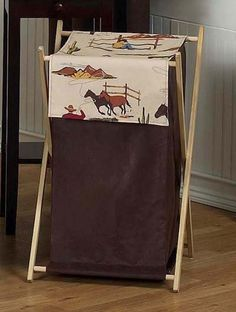 Baby and Kids Wild West Cowboy Western Horse Clothes Laundry Hamper by JoJo Designs - Click to enlarge
