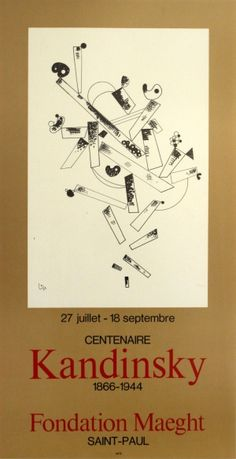 Kandinsky Fondation Maeght 1966 - original vintage poster listed on AntikBar.co.uk