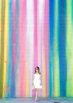 1660 S La Cienega Blvd, Los Angeles, CA  Los Angeles Dripping Paint Mural Wall