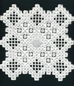 Hardanger embroidery, adapted from a design by Sigrid Bright by me ...