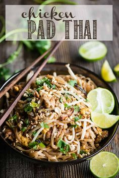 Pad Thai made in your own kitchen with fresh ingredients and a delectable sauce is the best pad thai you'll ever enjoy!Chicken Pad Thai made in your own kitchen with fresh ingredients and a delectable sauce is the best pad thai you'll ever enjoy! Asian Dinner Recipes, Shrimp Recipes For Dinner, Asian Recipes, Vietnamese Recipes, Vietnamese Food, Easy Recipes, Homemade Pad Thai, Thai Chicken Recipes, Pad Thai Sauce