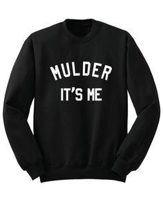 MULDER It's Me Long Sleeve X-Files Inspired Sweat Shirt Scully Movie Show Unisex Cotton Women Men Girls Trend Fleek