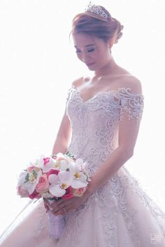 This week's bride, Mary Joy Enriquez-Soliman, wanted to have a fairytale-like wedding---complete with a tiara! Read her Bridal Journey here. Bridal Looks, Bride, Wedding Dresses, Inspiration, Beautiful, Fashion, Head Bands, Wedding Bride, Bride Dresses