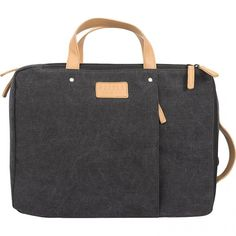 Geanta pentru laptop din canvas Graphite, Messenger Bag, Laptop, Tote Bag, Pocket, Zip, Modern, Leather, Bags