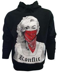 Marilyn Monroe Red Bandana Gangster Classic Design by DNMSuE
