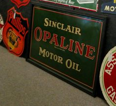 Sinclair Opaline Motor Oil Tin Sign