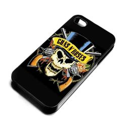 Guns n Roses Skull for iPhone 4/4s/5/5s/5c, Samsung Galaxy s3/s4 case