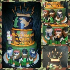 Duck Dynasty Cake. i had so much fun making this cake. :)