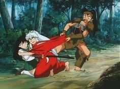 MINE!!! Inuyasha's and Koga's relationship summed up in one picture