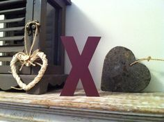 Freestanding Wooden Letter 'X'   25cm  Ariel by LoveLettersMe, £9.95
