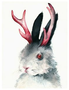 Jackalope painting - this would make a sweet tattoo