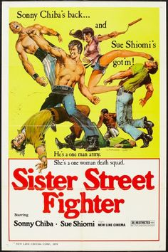 Sister Street Fighter one sheet movie poster. Sonny Chiba. Martial Arts. Art by Neal Adams