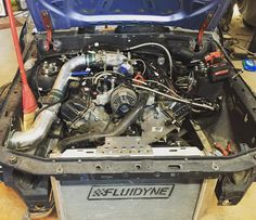My engine bay swag shot. #ford #foxbody #mustang #builtnotbought #automafiaracing #jointhefamily #partspassionperformance #4.6 #modular #modswap #2v #justa2v #2vterror m