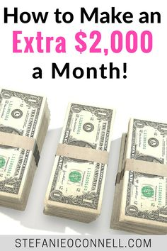 If you want to side hustle and make more money, here's how you can start making an extra $2,000 a month. Having extra income can help you pay off debt, save money and more!