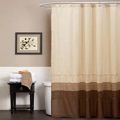 Lush Decor Mia Green / Brown Shower Curtain | Overstock.com Shopping - The Best Deals on Shower Curtains