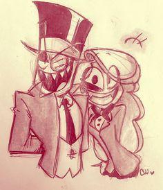 Villainous//Hazbin Hotel - Black Hat and Charlie - Crossover Cartoon Crossovers, Cartoon Gifs, Cartoon Shows, Fanart, Cartoon Network, Steven Universe, Villainous Cartoon, Vivziepop Hazbin Hotel, Fandom Crossover