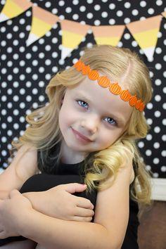 Halloween Headband...Pumpkin...1st by PoshPiggySandals on Etsy, $4.00