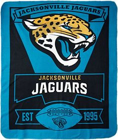 NFL Dallas Cowboys Marque Printed Fleece Throw - Jacksonville Jaguars  http://allstarsportsfan.com/product/nfl-dallas-cowboys-marque-printed-fleece-throw/?attribute_pa_teamname=jacksonville-jaguars  Made of 100% Polyester Measures 50-inches by 60-inches Vibrant Team Colors