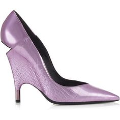 Tom Ford METALLIC PRINTED CROC CUT-OUT HEEL PUMP