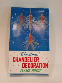 Vintage Christmas Chandelier Decoration in Box - Flame Proof Plastic Tinsel Gold Decor Handmade Shop, Handmade Items, Handmade Gifts, Christmas Chandelier, All Sale, Frocks, Vintage Christmas, Goodies, Plastic