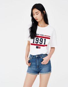 Pull&Bear - mujer - ropa - shorts - short de mezclilla tiro alto - azul medio - 05695310-V2018